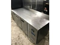 Polar three door bench freezer