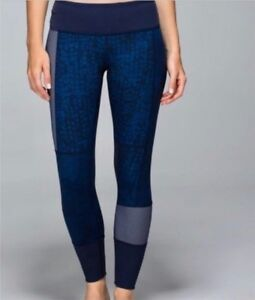 LULULEMON Sashiko Patchwork Wunder Under Legging Size 8