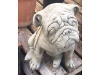 LOVELY STONE BULLDOG statue