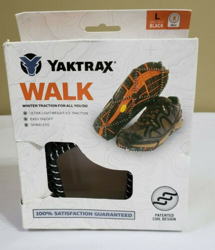 Yaktrax Walk Traction Shoe Cleats Spikeless Snow Ice Large M 11.5-13.5 W 13-15