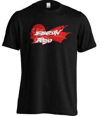 Camiseta BARON ROJO Personalizada Algodón Para Hombre Manga Corta Rock Español