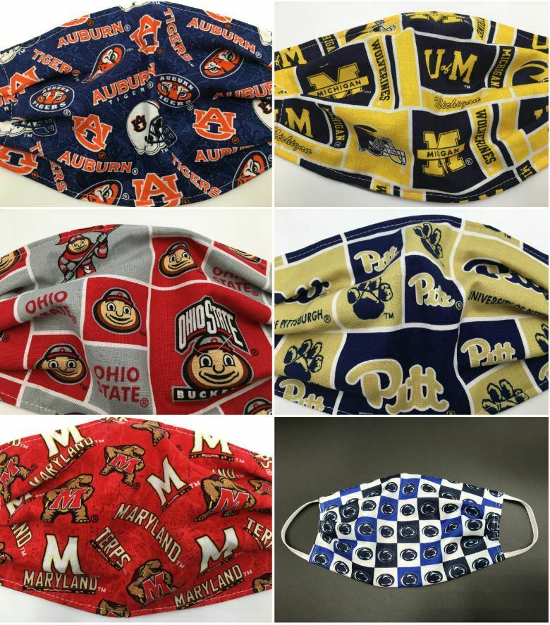 College Sports Teams Face Mask Washable Reusable In Stock Am