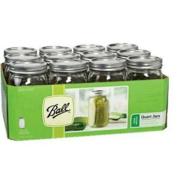 Ball mason jars WIDE MOUTH Quart ( 32oz) Set Of 12.