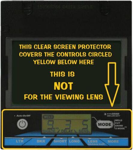Miller Welding Helmet Digital Performance Clear Control Screen Protector NO LENS