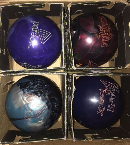 Lot 4 Track Paradox Pearl & Trilogy Cyborg & Tour Sic Bowling Ball Bundle 15lb