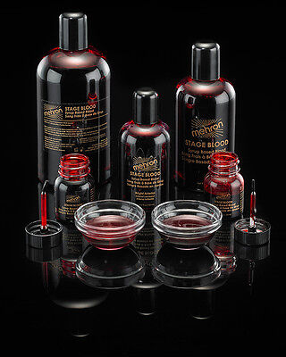 Halloween Makeup Special Effects (MEHRON STAGE BLOOD TV MOVIE SPECIAL EFFECTS FAKE BLOOD MAKEUP 1OZ 4.5OZ 9OZ)