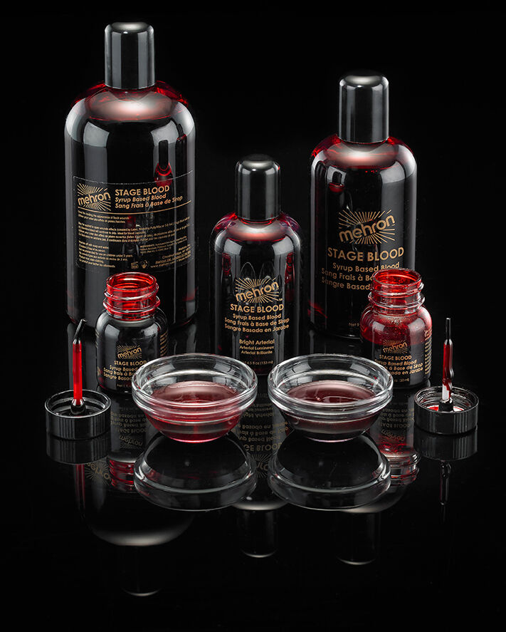 MEHRON STAGE BLOOD TV MOVIE SPECIAL EFFECTS FAKE BLOOD MAKEU