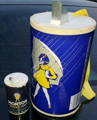 Vtg XXL advertising Morton's Salt Container Store Display Umbrella Girl 14""