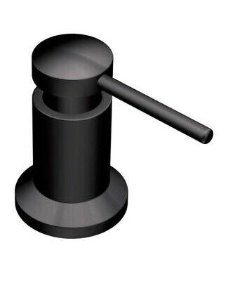MOEN Soap/Lotion Dispenser in Matte Black 3942BL see 4th picture slight chip