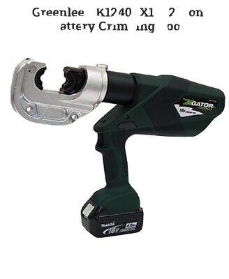 Greenlee Gator Ek 1240klx Hydraulic Crimper 12 Ton Crimping Tool W Charger