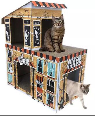 Hyde & EEK! Deluxe Haunted Hotel House Cat Scratcher Halloween + Holiday Camper