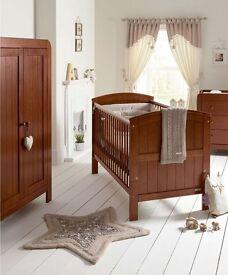 Mamas and Papas Beautiful Brown Nursery Furniture Set