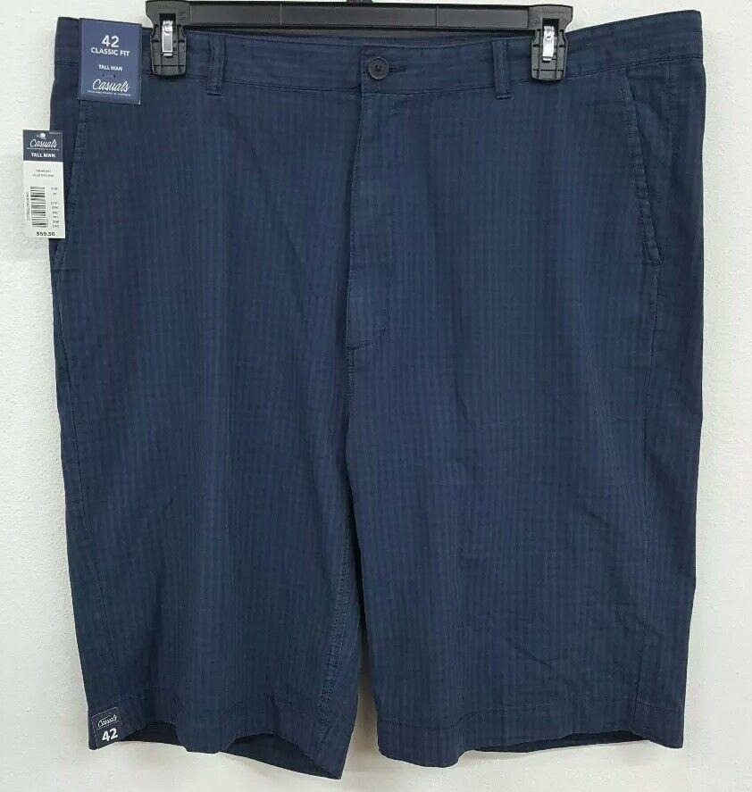 12fb03e2f8 Roundtree & Yorke Roundtree Yorke Casuals Big Tall Blue Gingham Men's Shorts  NWT $59.50 Choose Sz