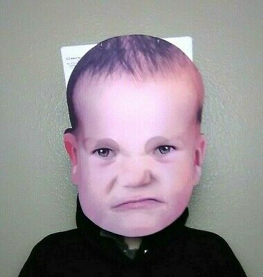 Baby Head Costume (Fussy Angry Grumpy Baby Face Giant Head Foam Board Mask Costume Joke)