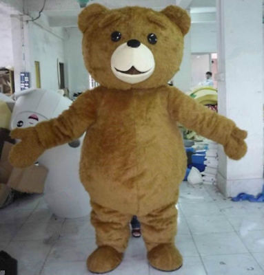 2018 Teddy Bear of TED Adult Size Halloween Cartoon Mascot Costume Fancy Dress - Ted Mascot Costume