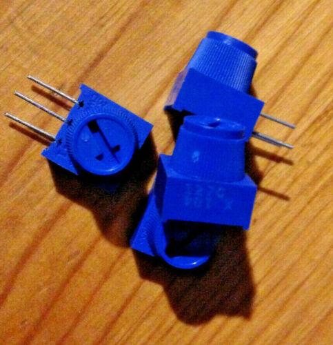 100 K ohm Vert Mount Trimmer - Single Turn with Knob - Bourns - 4 pcs
