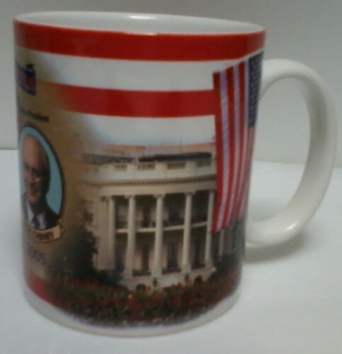 George Bush Dick Cheney Inauguration Mug White House Capitol Building 2005