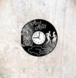 Jukebox, Rock 'n' roll, Vinyl LP Wall Clock Art Design Handmade