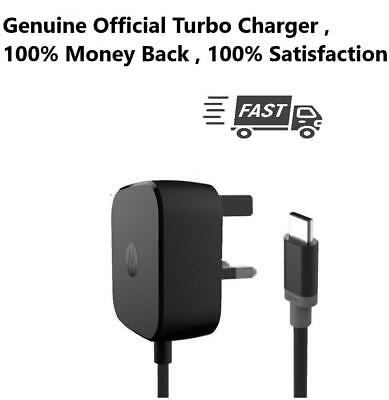Genuine Fast Turbo Mains Charger For Motorola 15W TYPE-C USB 3.0 SPN5917A Cable