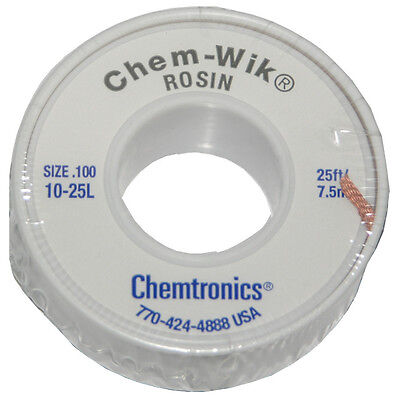 Chemtronics 10-25l 25 Solder Wic Wick Braid For Solder Removal From Circuits