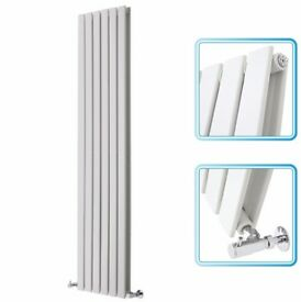 1780mm x 420mm - White Upright Double Panel Designer Radiator - Slimline Panels, NEW
