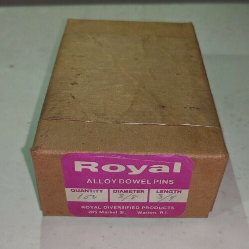 """Pack of 100 - 3/8"""" x 3/4"""" Royal Dowel Pins Alloy Steel"""