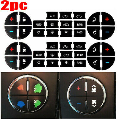 2x AC Dash Button Repair Kit Decal Stickers Replacement for Buick Chevrolet GMC