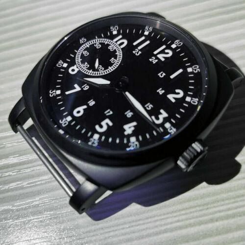 47mm watch case&39mm Luminous Watch Dial hands Set Fit Eta6497 Seagull St3600