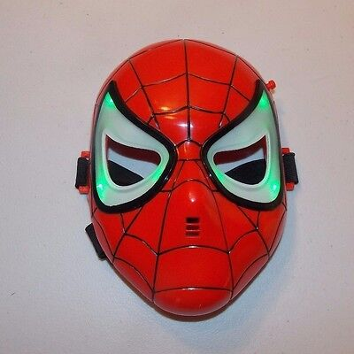 Spiderman Light Up Mask Marvel Toy Biz Child Size Halloween Costume Accessory