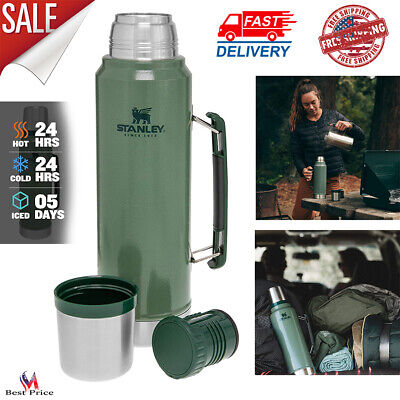 Vacuum Insulated Wide Mouth Bottle Stainless Steel Thermos Cold & Hot Beverages