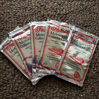 Indian Motorcycle Premium Trading Cards NEW package LOT OF 5 PACKS = 50 cards
