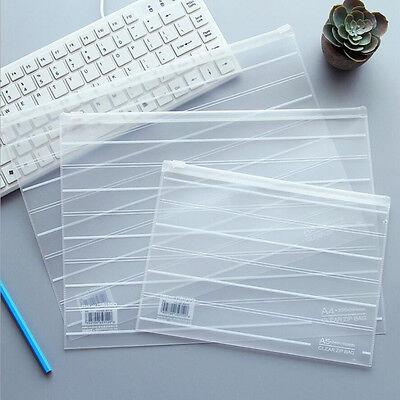 Plastic Zip Lock Envelope Zipper Wallet Insert Refill Organiser A4a5