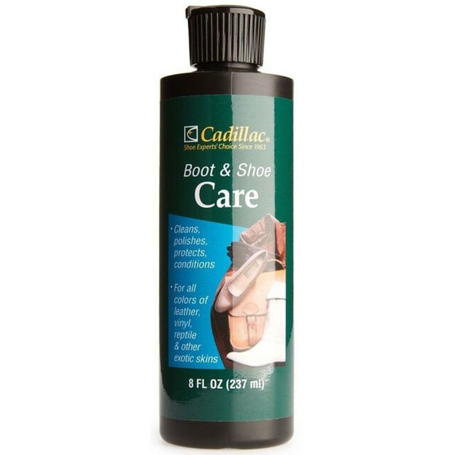 cadillac boot shoe care leather conditioner protector 8