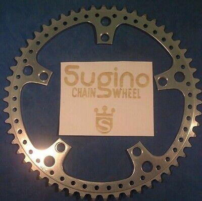 SILVER NOS VINTAGE SUGINO CUSTOM S DRILLIUM 5 BOLT 144 BCD 48T CHAIN RING
