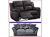brand new sofas leather and fabric end of line clearance