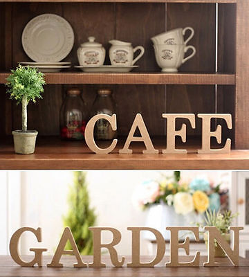 26 Wooden Wood Letter Alphabet Word Free Standing Wedding Party Home - Standing Letter Decor