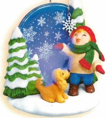 """2006 Hallmark Ornament """"Catching Snowflakes"""" Limited Special Edition New"""