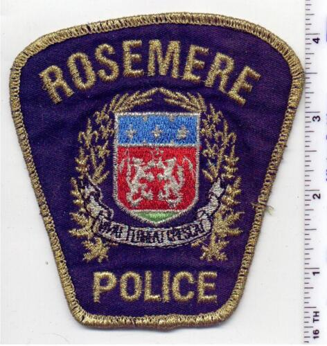 Rosemere Police (Canada) Uniform Take-Off Shoulder Patch from the 1980