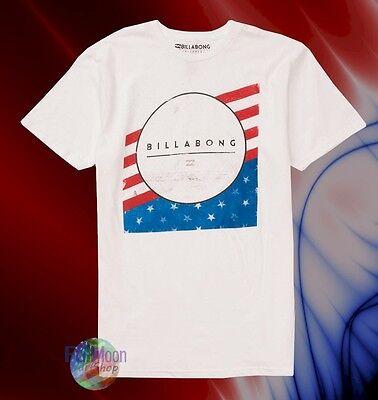 New Billabong Dice American White Mens T-Shirt