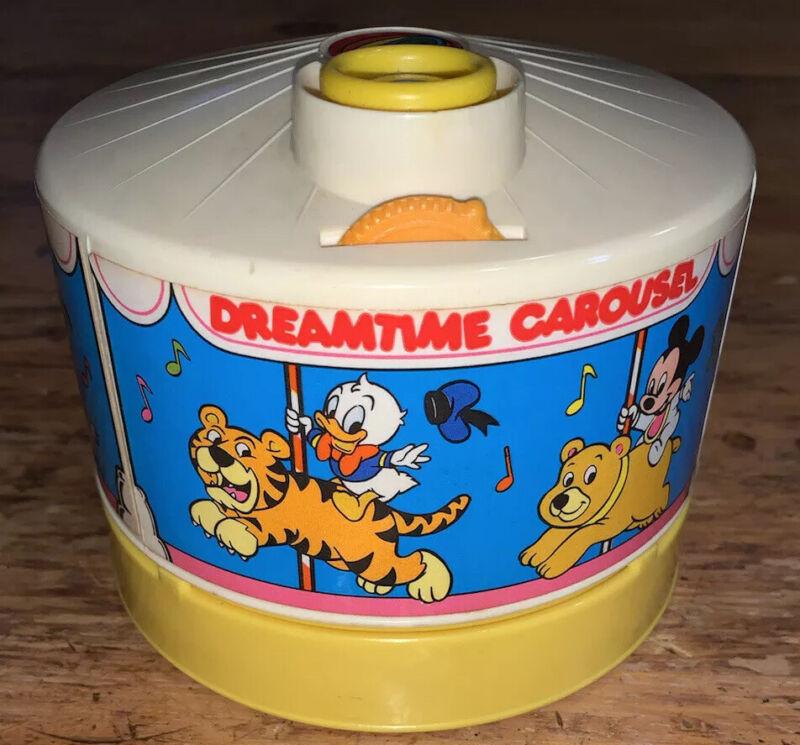 Vintage DISNEY DREAMTIME CAROUSEL Music Baby Night Light Projector