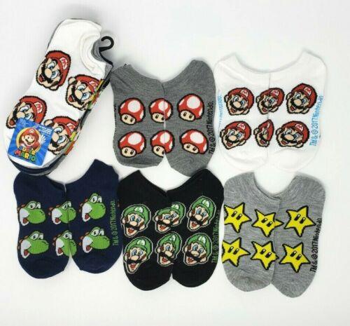 Super Mario No Show Socks 5-Pair