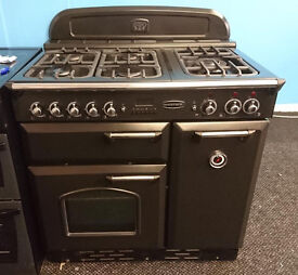 Do58 black rangemaster 90cm 5 burner dual fuel cooker classic comes with warranty can be delivered