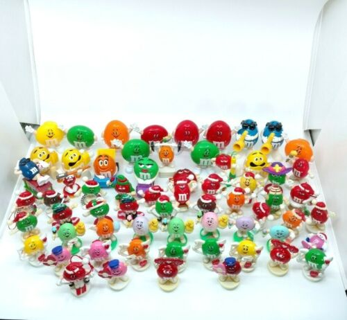 Vintage M&Ms Figures Lot 90s Candy Dispensers Toppers Ornaments Xmas Valentines