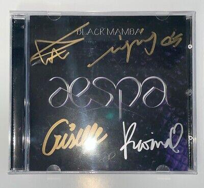 aespa [Black Mamba] Autographed Signed Promo Digital Single Album UNIQUE