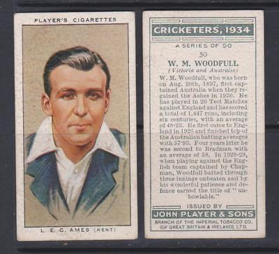 CIGARETTE CARDS Players Cricketers 1934 - complete set