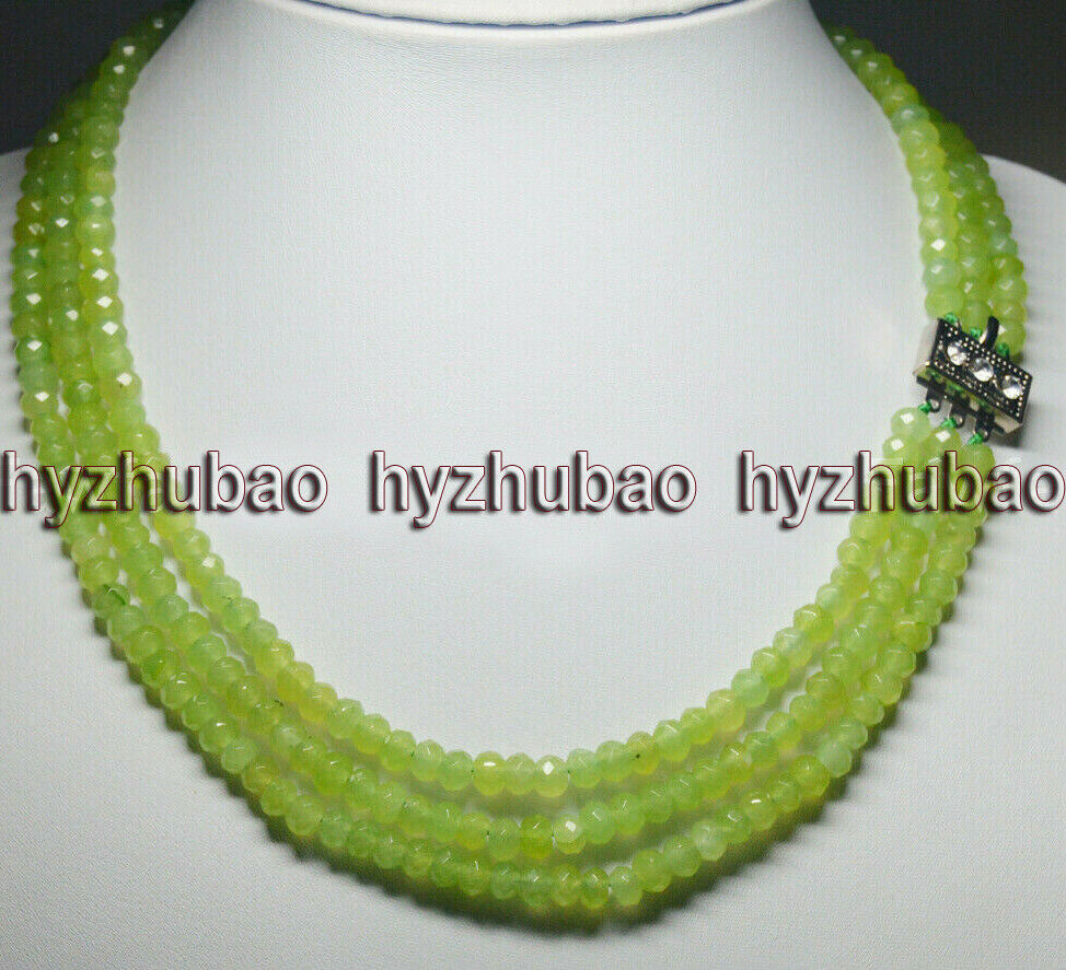 Natural Peridot Rondelles~~ AAA Quality~~  2 Strand~~Natural Peridot Micro Faceted Centre Drill Rondelles 4.5mm-5mm~~13 Inch