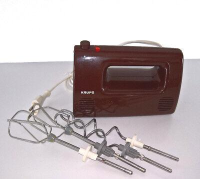 Krups Handmixer braunTyp 387 Handrührgerät gebraucht 70er Jahre vintage