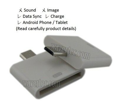 Apple 30 Pin Female to Micro USB Male Adapter Converter for Old Samsung