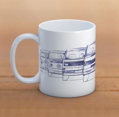 4t Tee (VW Tee/Kaffeebecher 330ml VW transporter Becher, tasse VW T2 / T3 / T4 / T5 / T6)