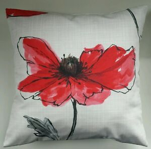Cushion Cover in Next Red Poppy 16